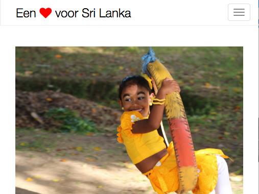 """Bezoek de website van onze solidariteitsactie """"Een hart voor Sri Lanka"""""""